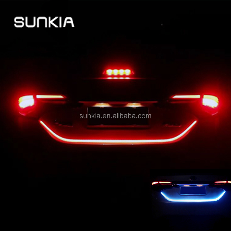 2017 New Product Trunk Box Flowing DRL With Side Turn Signals Rear lights LED Strip Tail Light Car Braking Light