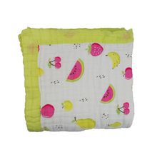 Eco-Friendly Thick soft 6 layers baby cotton muslin swaddle blanket