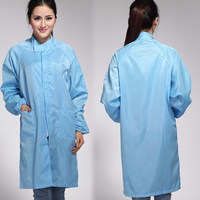 ESD Cleanroom Smock / Anti-static Grid Working Clothes / ESD garment
