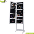 floor standing jewelry cabinet with mirror for wholesale