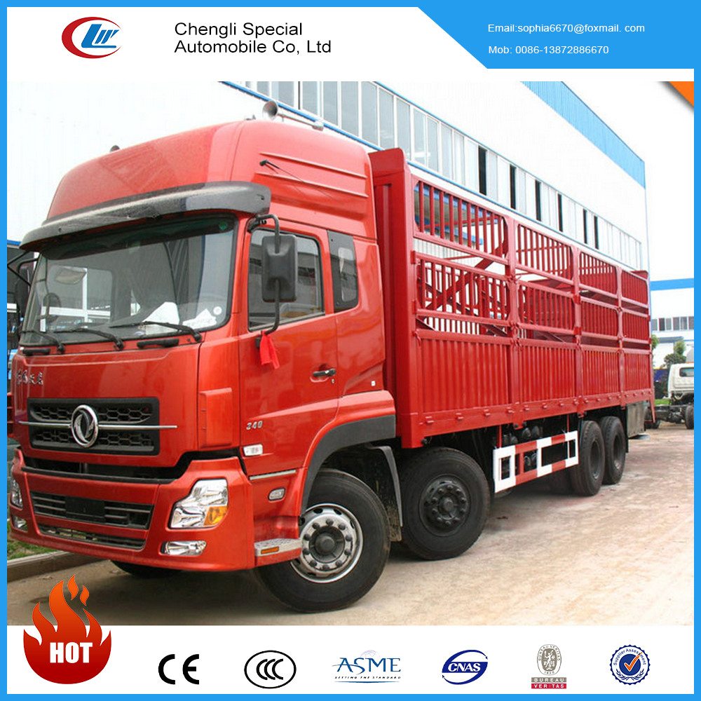 Cheap price DongFeng 8x4 420hp heavy van cargo truck China big truck for sale