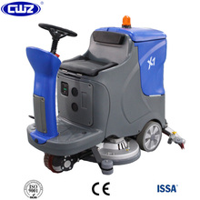 Concrete battery operated automatic floor cleaning machine