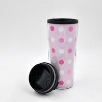 Custom Logo Printed Disposable double Wall Plastic Coffee Cup With Lids
