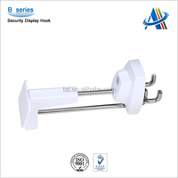Merchandising retail store security solutions display hook label holders anti theft display hooks for slatwall B series hook