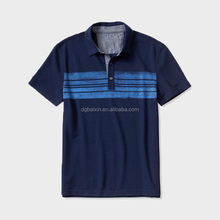 wholesale custom bulk polo shirts men's deep blue short sleeve polo shirt