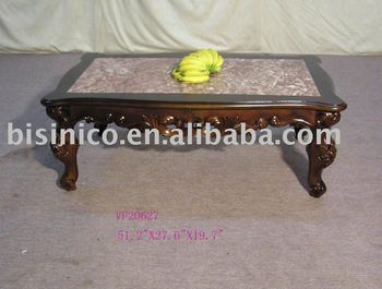 solid wood coffee table with marble top view coffee table bisini product details from zhaoqing. Black Bedroom Furniture Sets. Home Design Ideas