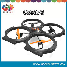 2.4G black large 4-channel UFO headless flying quad with camera 053378