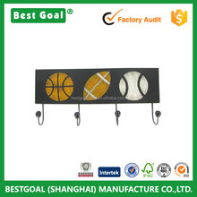 Sports Balls Wall Art with Four Hooks home decoration hook mdf hook
