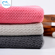 Customized comfortable design brushed felt knitted textile blanket fabric fleece