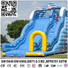 New design inflatable blue ocean,commercial big ocean wave inflatable water slide for sale,cheap inflatable water slide