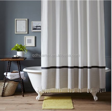 Nature design polyester shower curtain, waterproof bathroom window curtain