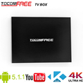 China Factory direct sale full HD 1080p tocomfree TV box with Android 5.1.1 for worldwide