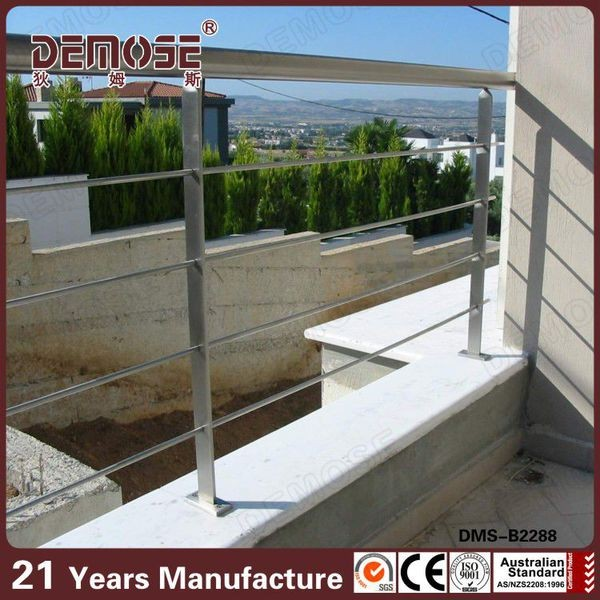 stainless steel top rails metal rails for porch