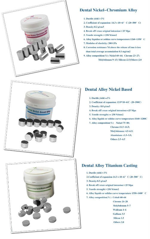 Alloy/Lab Dental Alloy for Casting Brown Nickel-based/Dental Metal Alloy