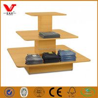 Retail store clothing display stand/display gondola/wooden shop table