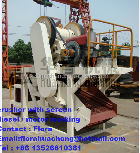 High efficiency best quality cheap mobile india stone crusher/mini small diesel engine crushing machine