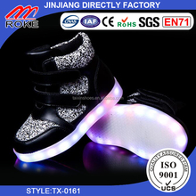 lovely warm sofy led boots light up kids boots