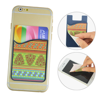custom printed microfiber wipe silicon card wallet