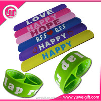 eco friendly fancy design most popular silicone wrist band rubber bracelet