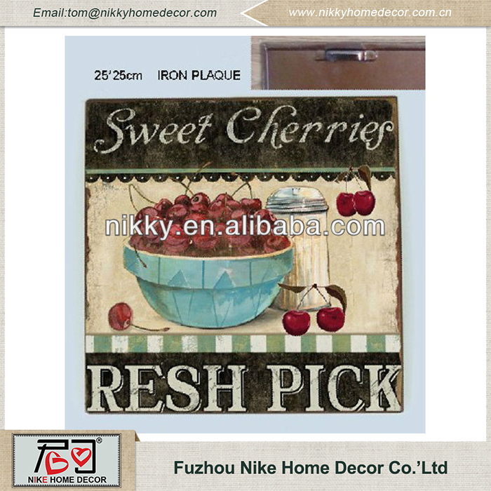 Sweet cherry fruit decorative tree wall plaques Eco-friendly plaques