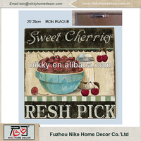 Sweet cherry fruit decorative tree wall plaques Eco-friendly , plaques