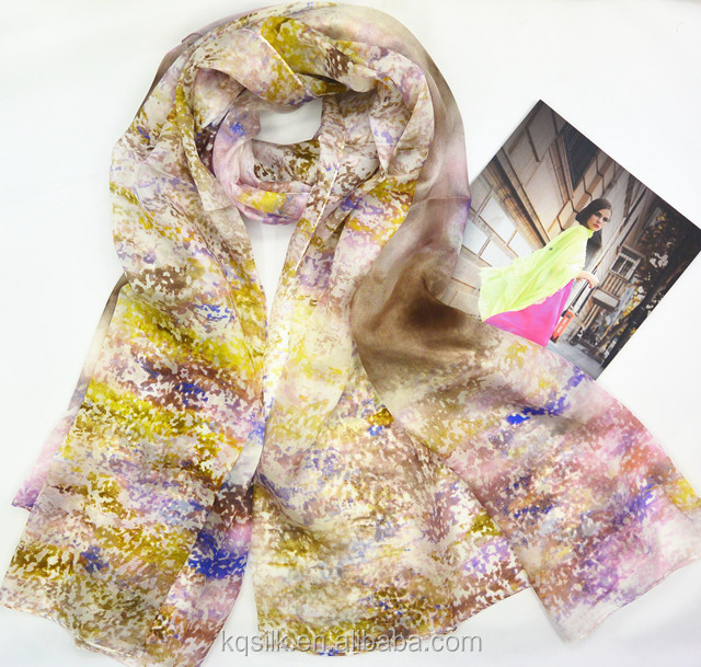 Hangzhou high-end stock paj/habotai silk scarf with low MOQ