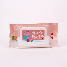Alcohol free disposable face and hand baby wet napkin