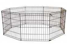 dihangpet 8 Panels Portable Puppy Exercise Fence play pen