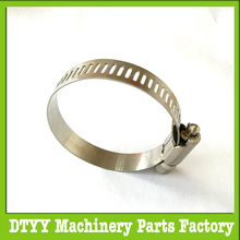 Low price of worm gear hose clamp with turn key for factory use