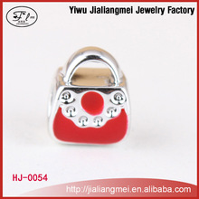 High Quality Red Glaze Floating Personalized Charms For Bracelet or Necklace