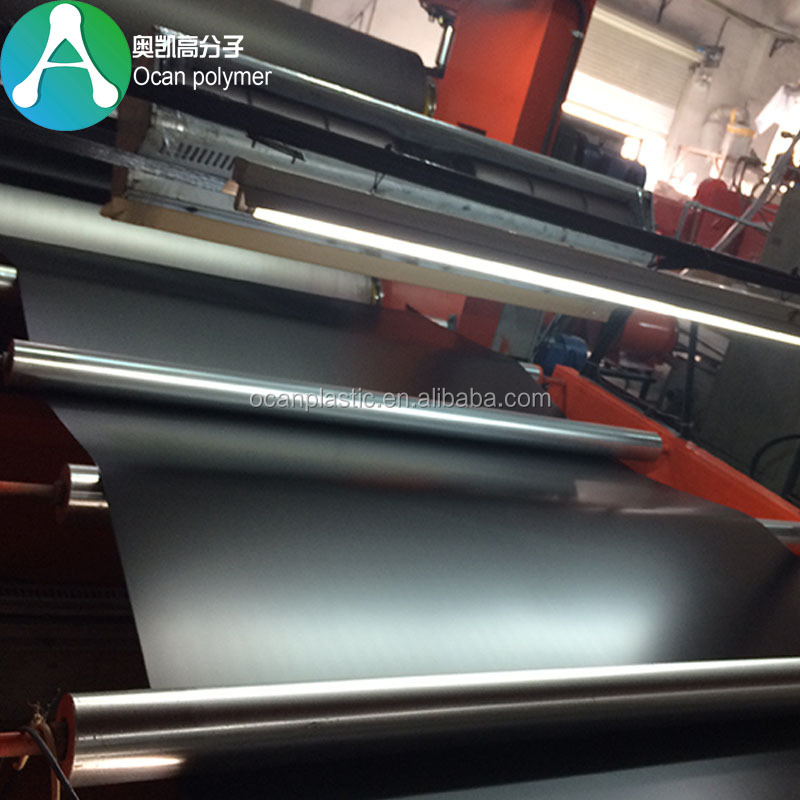 0.5mm Frosted Rigid Plastic PVC Sheets Black for Printing