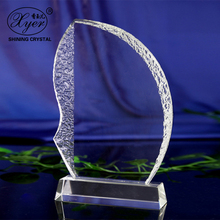 Boat Shape Business Gift High quality Crystal Trophy Award For Souvenir Gift