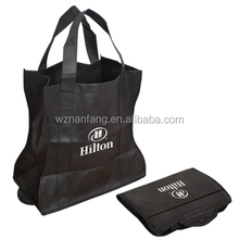 Popular best selling supermarket folding non woven shopping bag with handle,easy carry and use, OEM orders are welcome