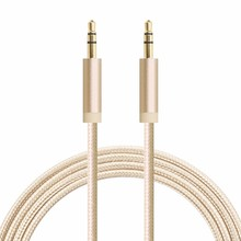 2017 super strong connector Fabric Braided Audio Cable for sale