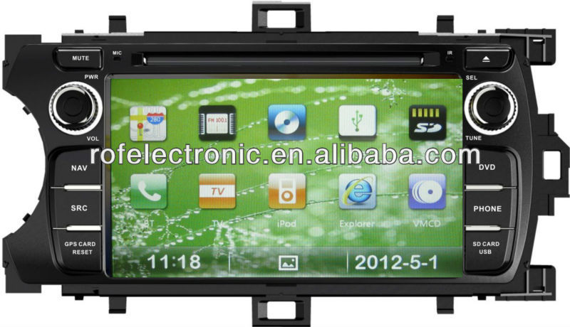 HD touch screen car gps system car radio dvd for Toyota yaris 2012