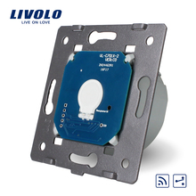Manufacturer Livolo EU Standard 1 Gang 2 Way & Remote Funtion Wall Light Touch Screen Switch Without Glass Panel VL-C701SR