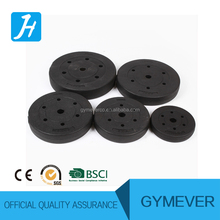 Plastic weight lifting plates
