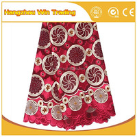 High Quality Heavy African Lace Fabrics Swiss Voile Lace in Switzerland 2016