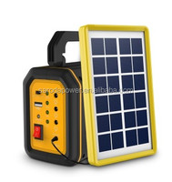 Portable solar led lighting power system mini light weight solar kits outdoor mobile charging solar power system