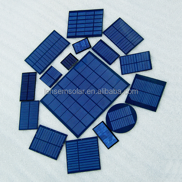 Small Mini 0.1W 0.5W 1W 2W 3W 4W 5W 8W 10W 1V 2V 3V 5V 6V 9V 12V 18V Customized Epoxy PET Solar Panel 1W Solar Panel