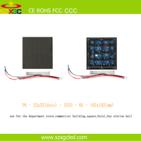 Aliexpress energy saving p6 indoor RGB SMD led display screen module amber