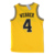 Yellow Color Design College Sewn Pattern Basketball Jersey Uniform