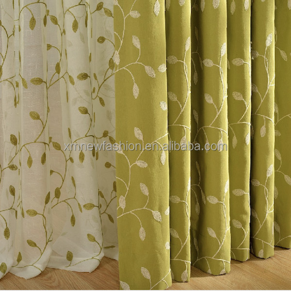 Living Room Curtain Fabric, Crest Home Design Curtains, Embroidered Fabric
