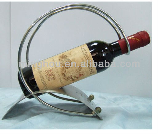 Stainless steel red wine bottle holder, table wine holder