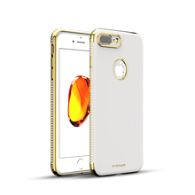 Shengo New Arrival Crystal Soft TPU Phone Accessories Back Cove with Diamond for iPhone 8