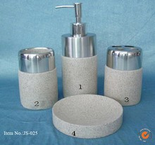 Five Star Hotel Special Use Elegant resin bathroom Accessories 4pc Nice Bathroom set