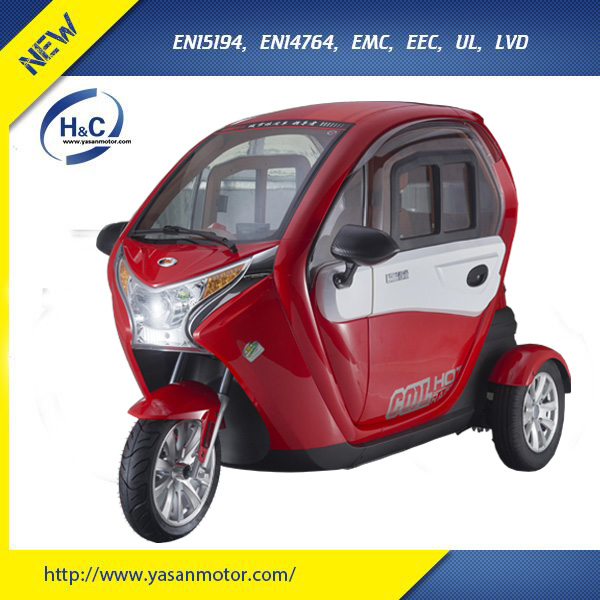 EEC 1500W chinese electric car tricycle for passenger with 2 seats