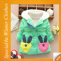 New design wholesale kids girl bright color coat lovely baby winter coats SY-578