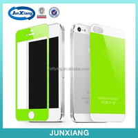 Cell phone accessory silk-screen tempered glass screen protector for iphone 5