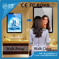 Hot selling wholesale magnetic led wall mounted light boxes magic mirror photo frames wholesalers light boxes picture changing l